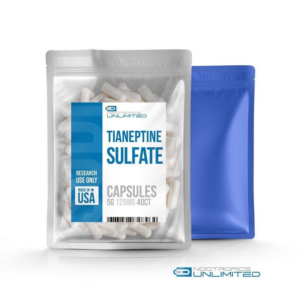 Tianeptine Sulfate Capsules 125mg//40ct